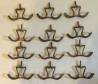 12 Vintage Screw-In Coppered Metal DOUBLE CEILING HOOK Plant Lamp Coat Hanger
