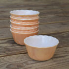 FIRE-KING 424 Peach Luster Scalloped Rimmed Dessert Custard Cup Bowls Lot of 6