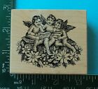 CAROLING CHRISTMAS ANGELS Rubber Stamp by PSX G 1729 Poinsettia
