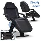 Tattoo Salon Barber Chair Massage Table Facial Bed Beauty Hydraulic Stool White