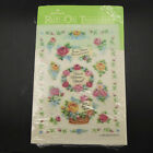 Hallmark Transfers Rub On Scrapbook Roses Flowers Floral One Sheet 1981 Vintage