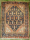 Antique Persian Malayer Village Kurd Boteh Rug c. early 1900s