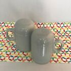 Fiestaware Pearl Gray Rangetop Salt and Pepper Shakers Fiesta Retired Range Top