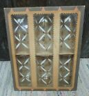 Gold  Mid Century Drinking Glasses Boxed Set of Six