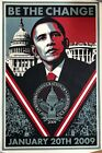 Shepard Fairey Barrack Obama Be The Change Print Poster Obey Giant Street Art