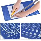 Craft Cutting Mat 1cm Measuring Grid Non Slip Surface A4 new