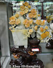 17 Top Natural Jade Plum Blossom Magpie Birds Potted landscape Bonsai Statue