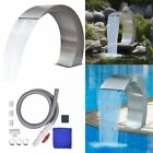 Garden Outdoor Swimming Pool Waterfall Fountains Spa Stainless Steel Feature New