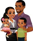 15 African American Family stickers for planners  scrapbooks