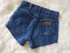 Vintage 80s WRANGLER High Waist Blue Jean Cutoff Shorts Hot Pants XS Small