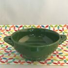 Vintage Fiestaware Forest Green Cream Soup Bowl Fiesta 1950s Footed Bowl