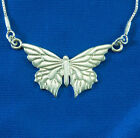 Silver necklace jewelry pnedant chain sterling butterfly women charm fashion