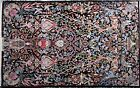FASCINATING AND SUPER FINE SIGNED PERSIAN ISFAHAN RUG TREE OF LIVE , SILK BASE A