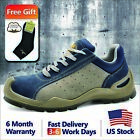 Safetoe Safety Shoes Mens Work Boots Breathable Leather Steel Toe US Size 5 13