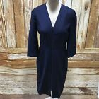 COS Navy Dress Formal All Occasions Plain Wool Smartwear Simple Size UK S 16807