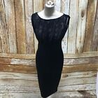 TED BAKER Black Formal Bodycon Lace Front Dress All Occasions Size US1 UK8 17243