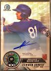 2018 Bowman Chrome Andres Gimenez Superfractor Scouts' Top 100 Auto 1 1 METS #1