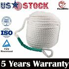 1 2 X 100  WHITE ANCHOR ROPE BOAT DOCK LINE DOUBLE BRAID NYLON W Thimble