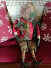 Grungy Primitive Folk Art Snowmen Doll 27
