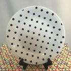 Fiestaware White Mulberry Polka Dot Dinner Plate Fiesta Exclusive Purple Dots