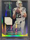 2014 Panini Rookies and Stars Andrew Luck Auto Patch 08 15 Autograph Sealed