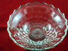 Vintage Salad Serving Bowl Indiana Glass Whitehall Colony Cube Clear 3 Footed