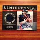 2011 Panini Limitless TIM TEBOW Autograph 1-Color Patch Rare 14 25