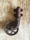 ANTIQUE VINTAGE INDUSTRIAL FACTORY CART CAST IRON WHEEL CASTERS Table