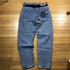 vtg 90s PELLE PELLE baggy jeans spellout colorblock size 32 33 tapered fit