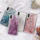 Bling Glitter Quicksand Heart 3D Dynamic Liquid Soft Silicone Shockproof Case