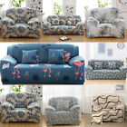 Stretch Chair Sofa Cover Protector Slipcover Full Cover Floral 1 2 3 4 Seater US