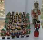 Lot of Vintage Christmas Toy Soldier Nutcracker Paper Ornaments and Push Toy