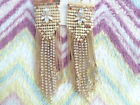 Primark diamante earings golden look shimmer long celebrity party NEW