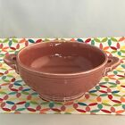 Vintage Fiestaware Rose Cream Soup Bowl Fiesta 1950s Pink Footed Bowl