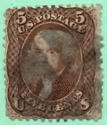 76 Early US Stamp Fancy Cancel