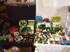Huge Lot Of Diecast Plastic Tractors Combine Farm Machinery John Deere Ertl