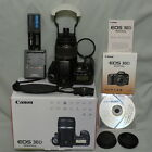Canon EOS 30D 82MP DSLR camera with EF S 18 55mm IS kit lens case 2 CF etc