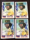 1982 TOPPS ENRIQUE ROMO AUTO SIGNED PIRATE106 PRIVATE SIGNING
