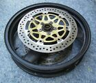 1999-2005 Kawasaki ZRX1200R 1100 front wheel with rotors NICE shape, straight