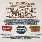 Vintage Levi Strauss  Co XL T Shirt Jeans Denim Cowboy Rodeo Overalls Farmer