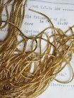 Unique AUTHENTIC FRENCH Vintage Gold Metal Thread Check Purl Bullion Embroidery