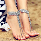 Lady Bohemian Carving Flower Toe Anklet Ankle Bracelet Foot Chain ewelry Utility