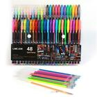 48 Colors Gel Pens Set Glitter Sketch Drawing Painting Craft Markers Stationery