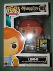 Funko Pop FLOCKED LION-O Thunder Cats SDCC 2014 EXCLUSIVE 1000 limited boxdamage