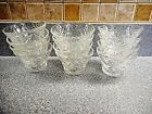 12 EAPC Star of David Anchor Hocking Berry Dessert Bowls Clear Crystal