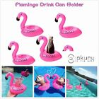 6x Inflatable Flamingo Floating Coasters Drink Cup Holder Swimming Pool Party US