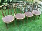 Set 4 VIntage Mid Century FISCHEL Bentwood Chairs Dining Cafe Pub CZECHOSLOVAKIA