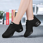 Breathable Mesh Womens Dance Sneakers Soft Outsole Jazz Hip Hop Dancing Shoes