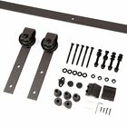 6.6 Ft Sliding Barn Door Rolling Track Kit Wall Mount Hanging Hardware, J Style
