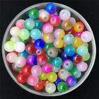 NEW DIY 4 6 8mm Double Color Glass Round Pearl Spacer Loose Beads Jewelry Making